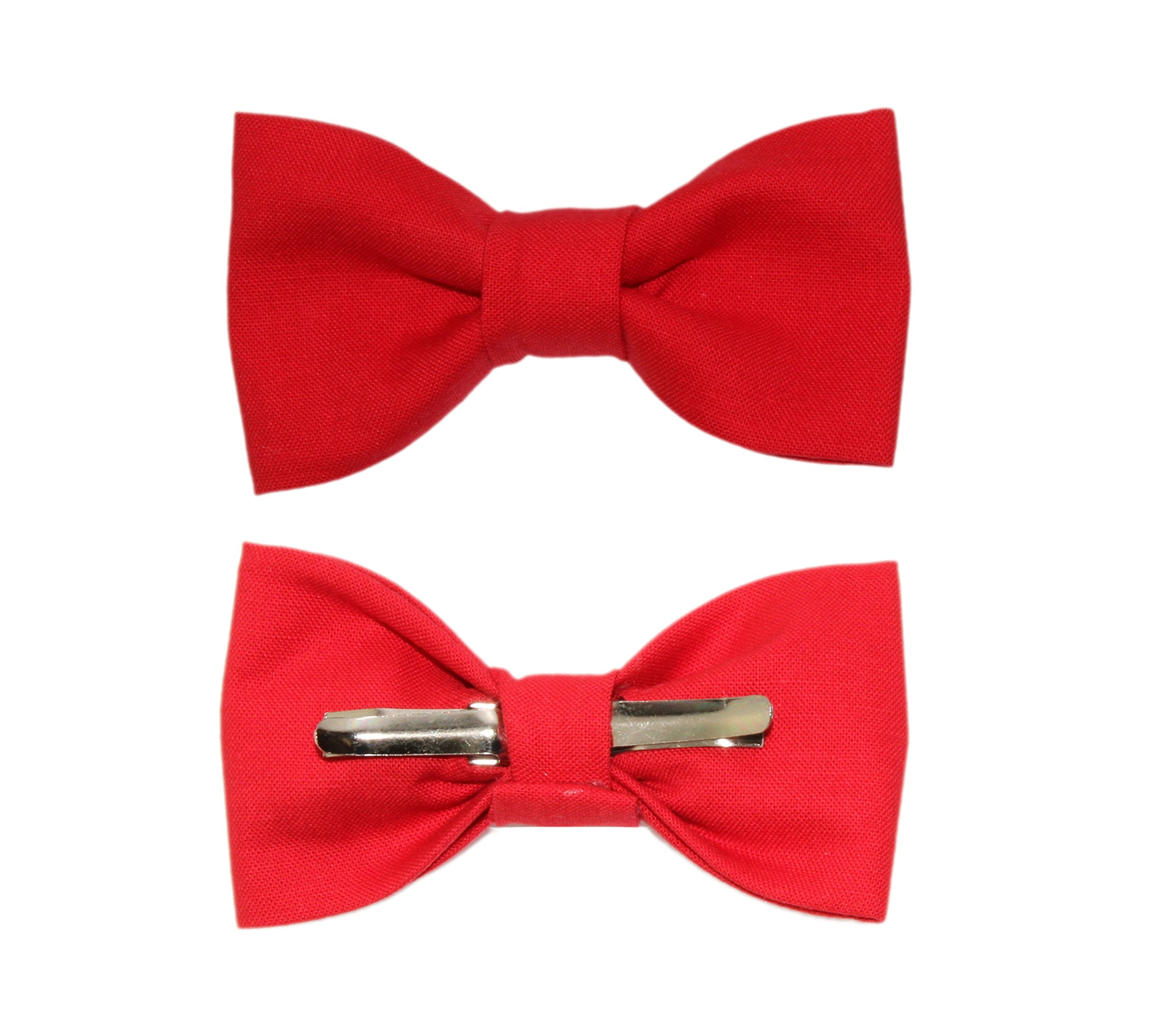 Toddler Boy 4T 5T Solid Red Clip On Cotton Bow Tie Bowtie by amy2004marie