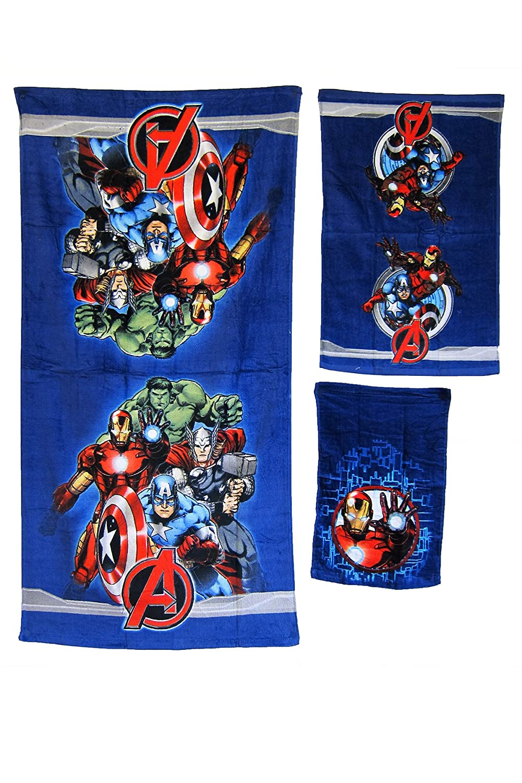 Amazon.com: 3 Pieces Disney Pixar 100% Cotton Bath, Hand, and Fingertip Towel Sets (Avengers): Home & Kitchen