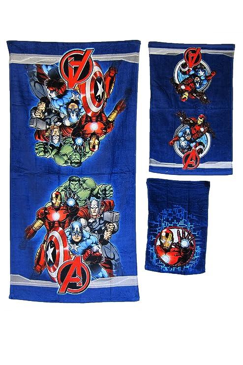Los Vengadores 3 piezas Juego de toalla de baño