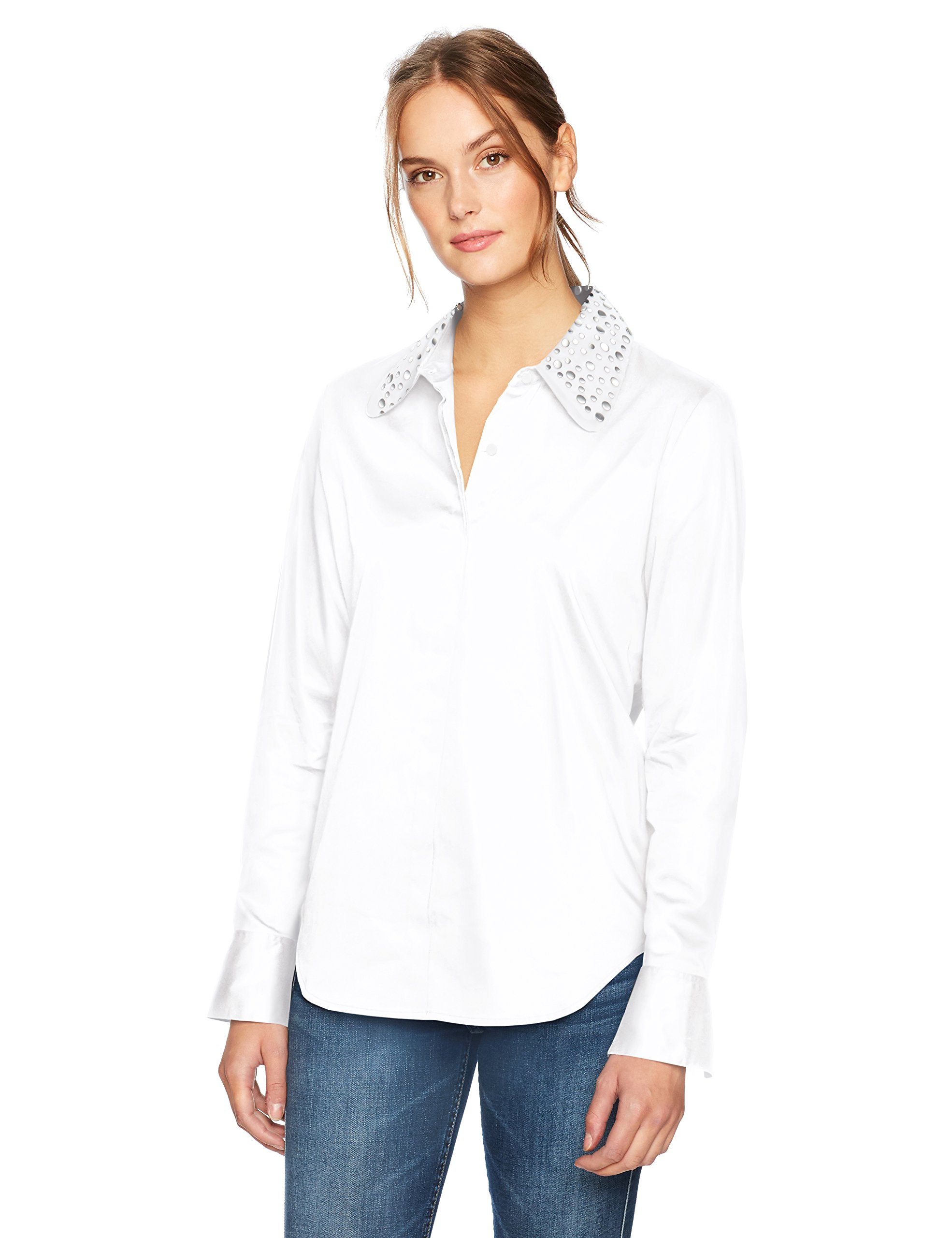 AG Adriano Goldschmied Women's Camilla Top, True White, M