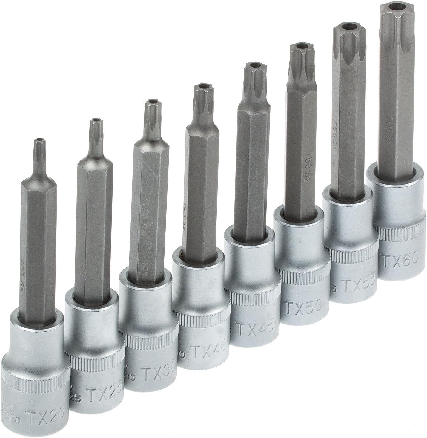 Lot de 10 embouts de type Torx 25 TX 25 T 25 L 50 mm S2 de qualit/é magn/étique Noir mat Torx 25