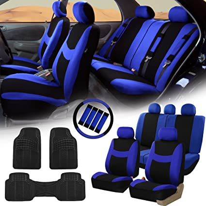 FH GROUP FB030115 Light Breezy Cloth Seat Covers Airbag Split Ready