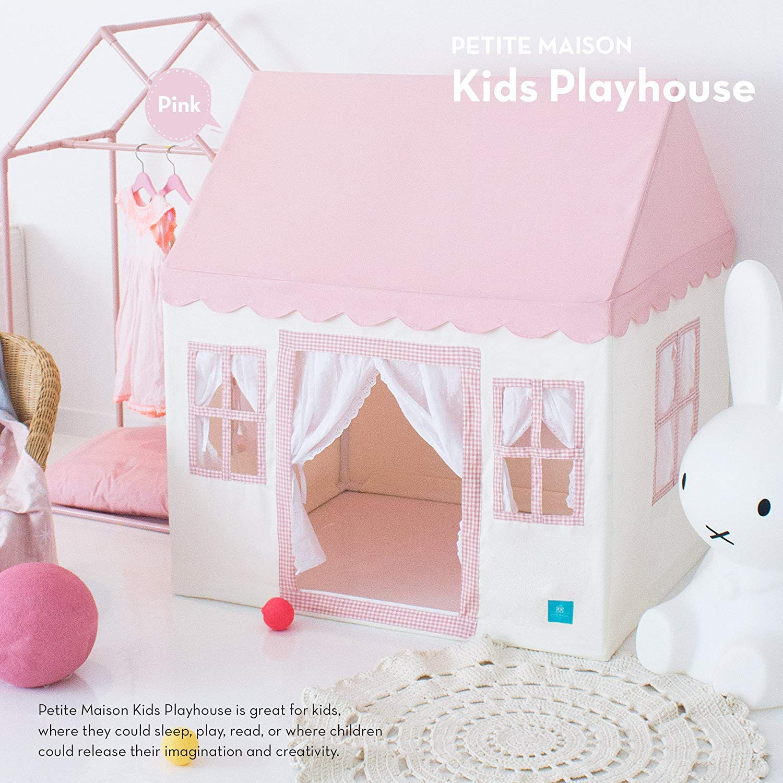 [Petite Maison] [Petite Maison プレミアムクオリティープレイハウス Kids Play House Tent, Hand Made Premium Quality Playhouse - Light, Easy ] (並行輸入 B07GYXTSQC Baby Pink One Size
