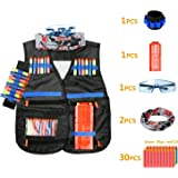 BATTOP Chaleco Táctico Niños Kit de Chaqueta Táctica para Pistola Nerf Serie N-Strike Elite Juego de Batalla Nerf Regalo perfecto para niños