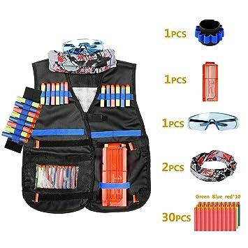 Minver Adjustable Tactical Vest Jacket Accessories Kit for Nerf Guns' N- strike Elite Series