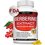 Berberine Extract 1800 mg HCl Complex - Premium Strength Berberine Plus to Support Immune Function, Blood Sugar Metabolism an