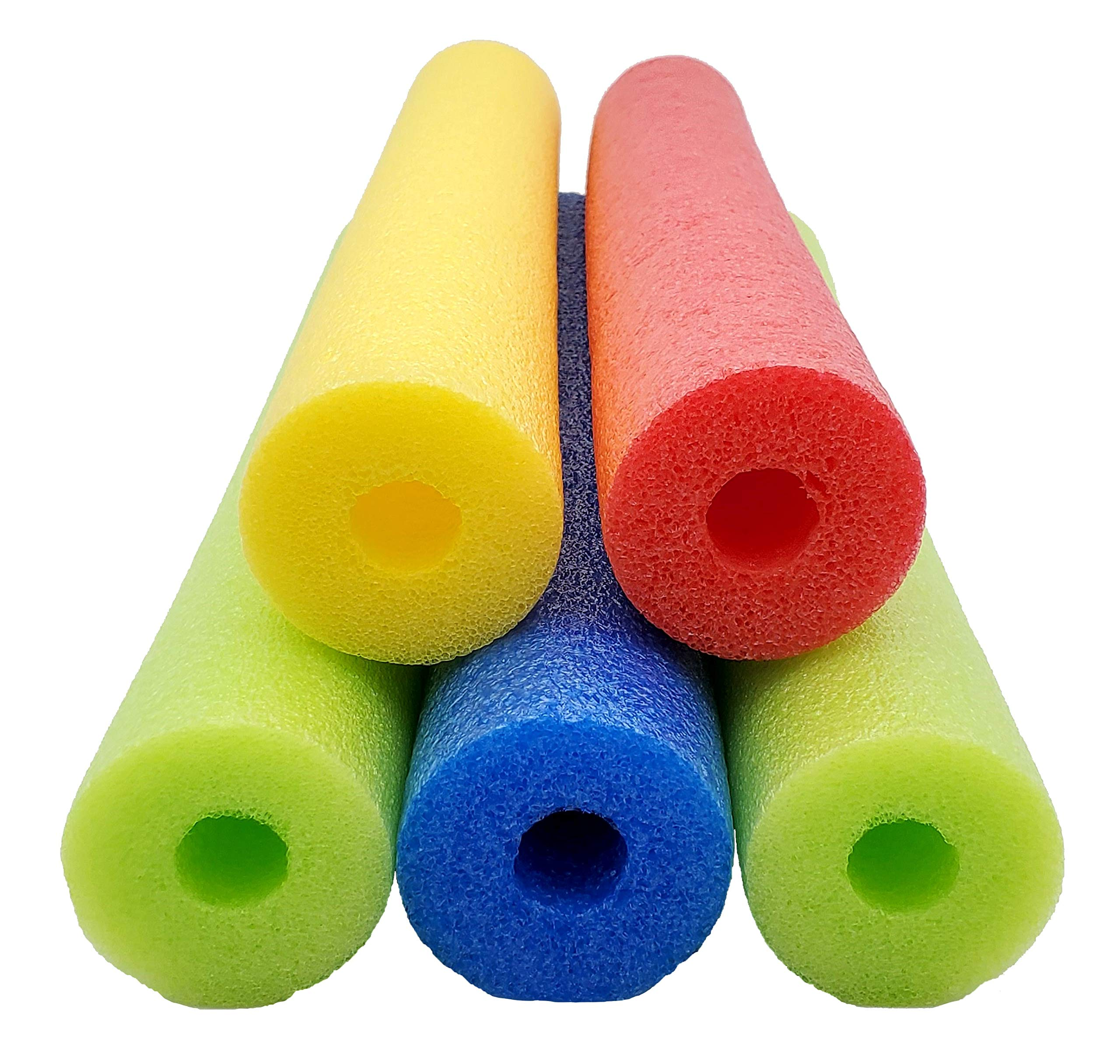 Fix Find 52 Inch Colorful Foam Pool Swim Noodle 5 Pack in Bright Jewel Tone Multicolors by Fix Find