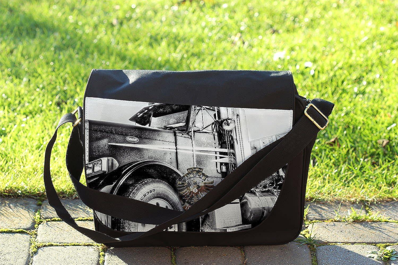 American Trucker Messenger Bag Cross Body Laptop School Work Bag