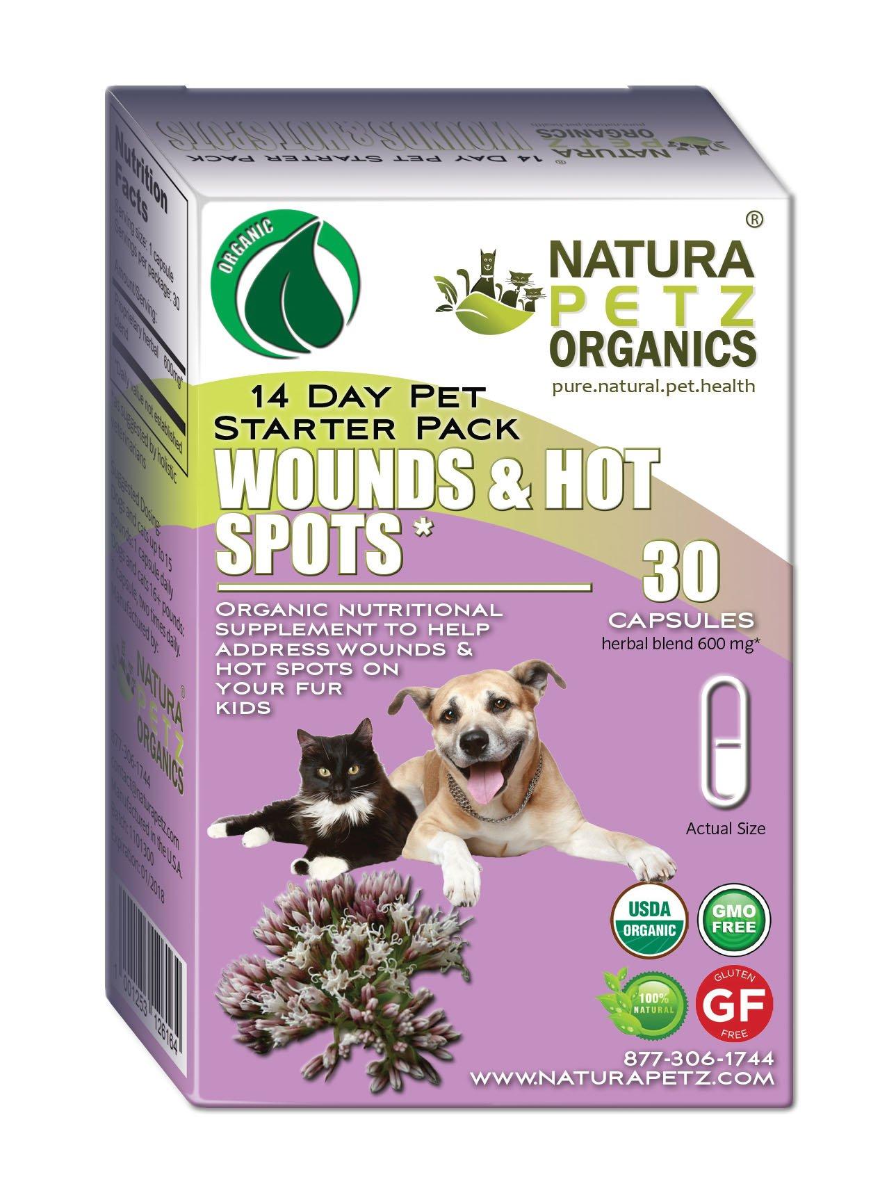 Natura Petz Organics Wound and Hot Spot Starter Pack for Dogs and Cats by Natura Petz Organics