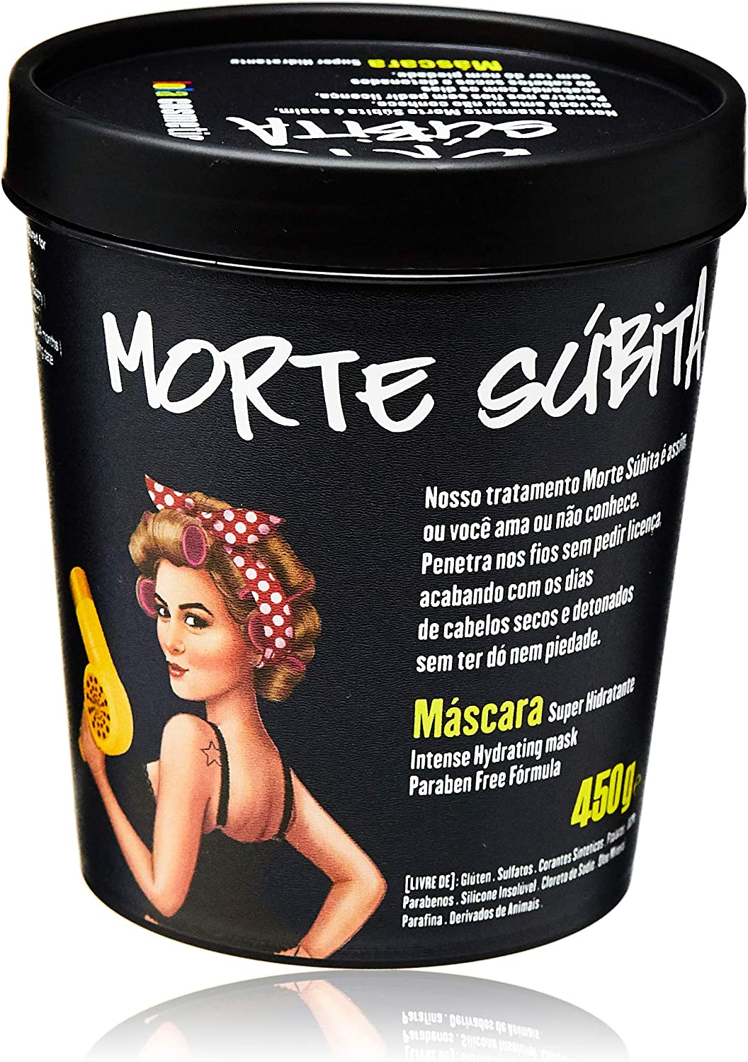 Máscara Super Hidratante Morte Súbita, Lola Cosmetics, 450g