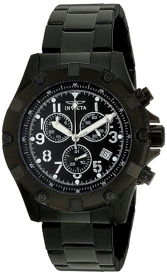 Invicta Caballero 13623 Specialty cron-grafo Black Dial Black Ion-Plated Stainless Steel Reloj: Amazon.es: Relojes