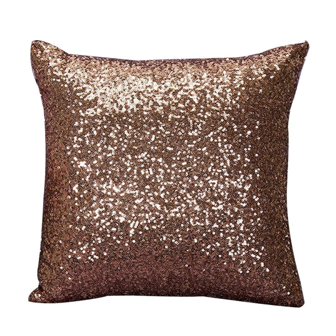 buweiser buwei serso Lid color Glitter Paillettes Cuscino decorativo Fall, champagne, 40 x 40 cm