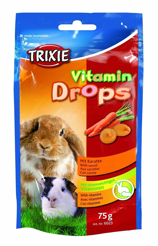 Trixie Drops Vitaminados, Roedores, Zanahoria, 75 g 4011905060231