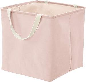 AmazonBasics Fabric Storage Bin - Large Cube, Dusty Pink
