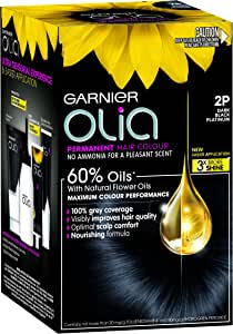 Garnier Olia Permanent Hair Colour - 2P Dark Black Platinum (Ammonia Free, Oil Based)