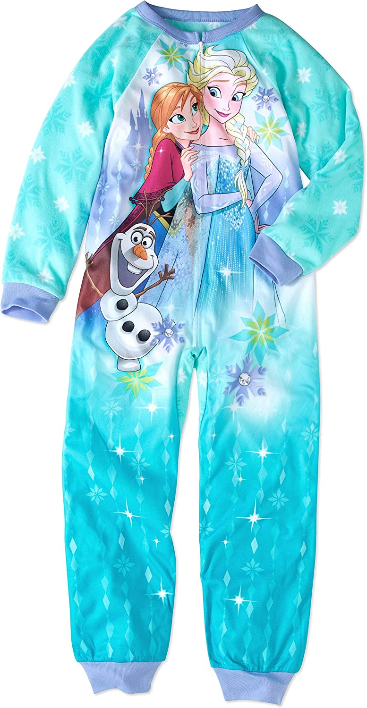 Disney Frozen Princess Elsa Anna Olaf Girls Blanket Sleeper Pajamas