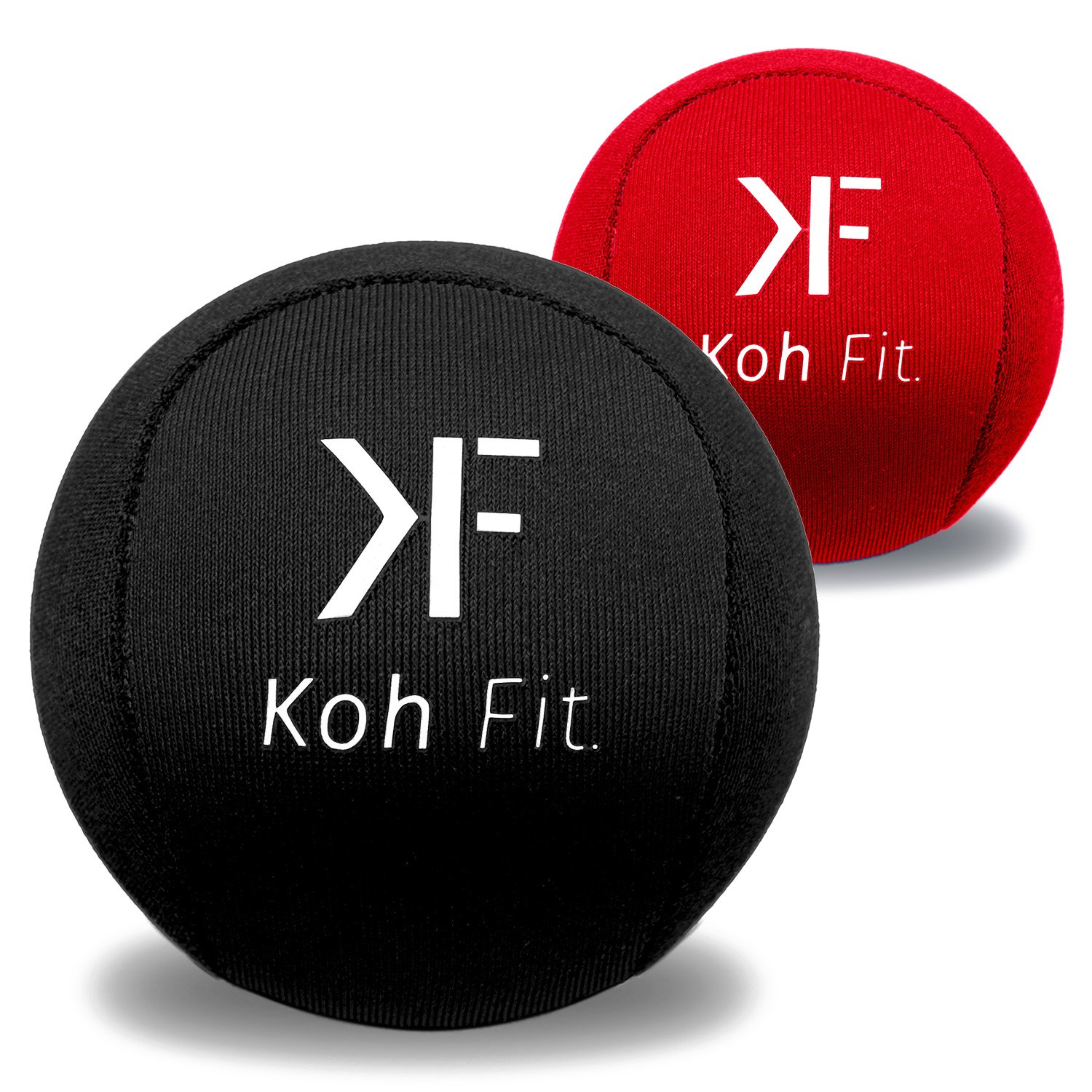 Koh Fit Stress Balls (2 Pack) | Perfect for Hand Exercise, Physical Therapy & Natural Stress Relief | Gel Squeeze Balls | Grip Strengthener, Finger Exerciser & Fidget Toy | 6cm / 2.36''
