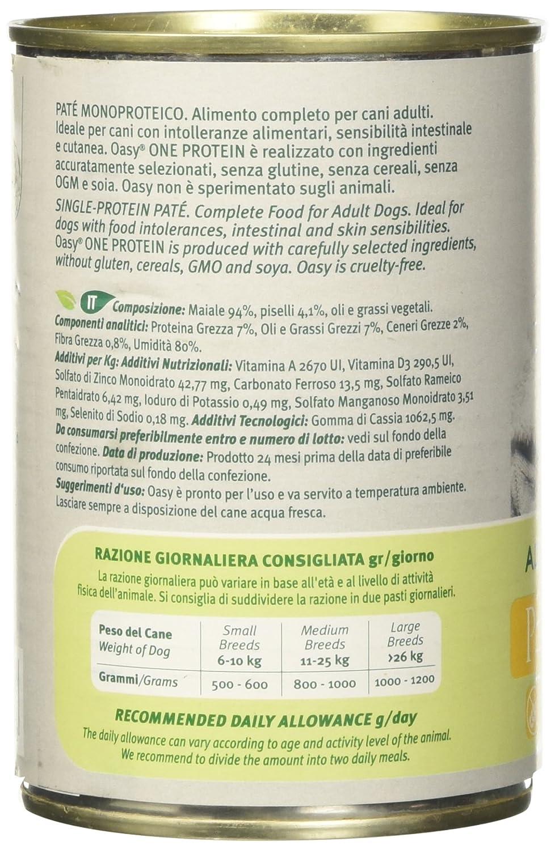 OASY Una Proteína De Perro Mojado 400 G De Carne De Cerdo Húmedo Para Perros: Amazon.es: Productos para mascotas