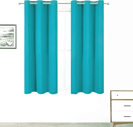ZHHSJJ Kids Blackout Curtains Jungle leaves 2x W 29 x L 65 Inch for Girl boy Bedroom Eyelet Thermal Insulated Room Darkening Curtains for Nursery Set of 2 Panels
