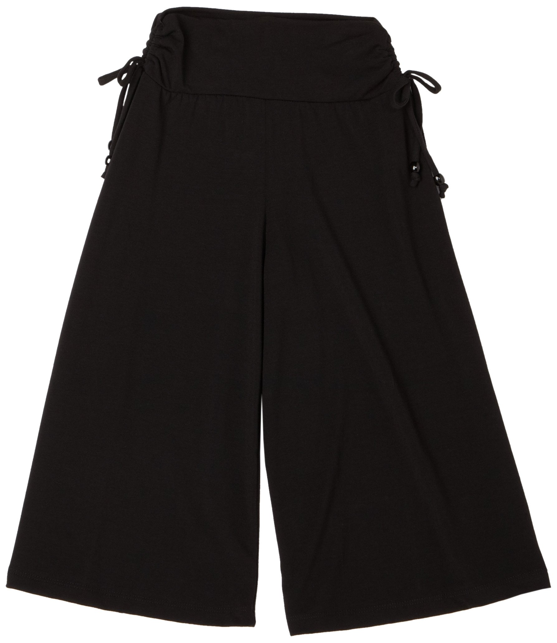 Amy Byer Girls' Soft Knit Wide Leg Gaucho Pants, Black, Small by Amy Byer (Image #1)