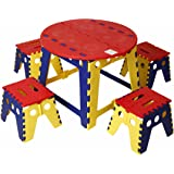 KitschKitsch® Kids Portable Folding Table Set for Activity Play Study and Snacks