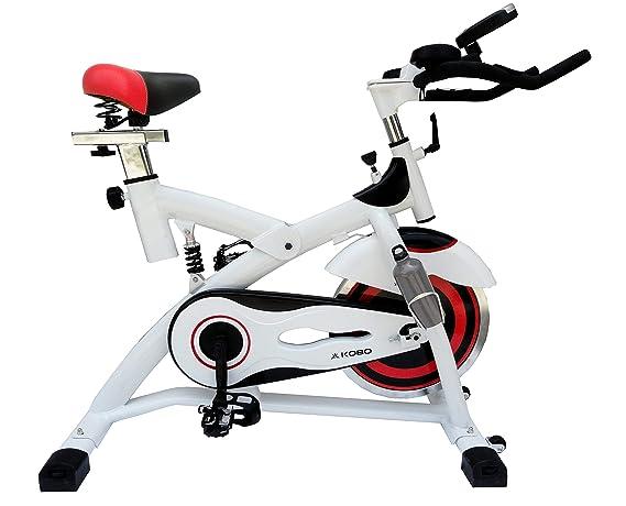 Kobo Exercise Spin Bike with Steel Wheel (Imported) Exercise Bikes at amazon