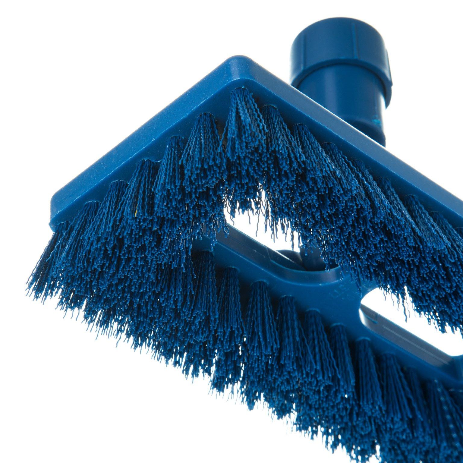 Carlisle 363883114 Swivel Scrub Brush, 8'', Blue (Pack of 12) by Carlisle (Image #5)
