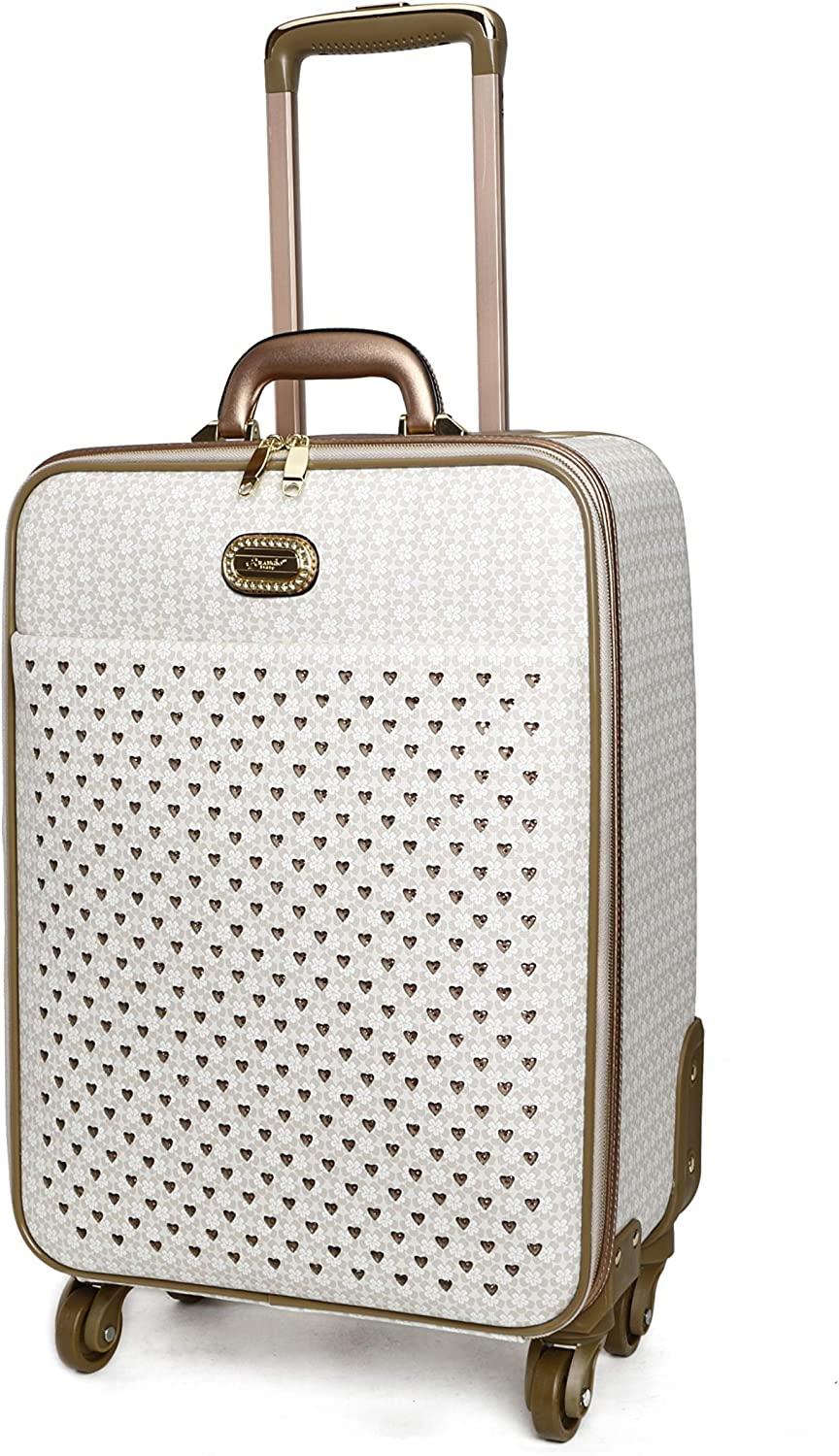 Burgundy BRAMGIO Italy Luggege Galaxy Stars Luggage structured matte pebble leather Luggage US Patented RLL 8899 Series