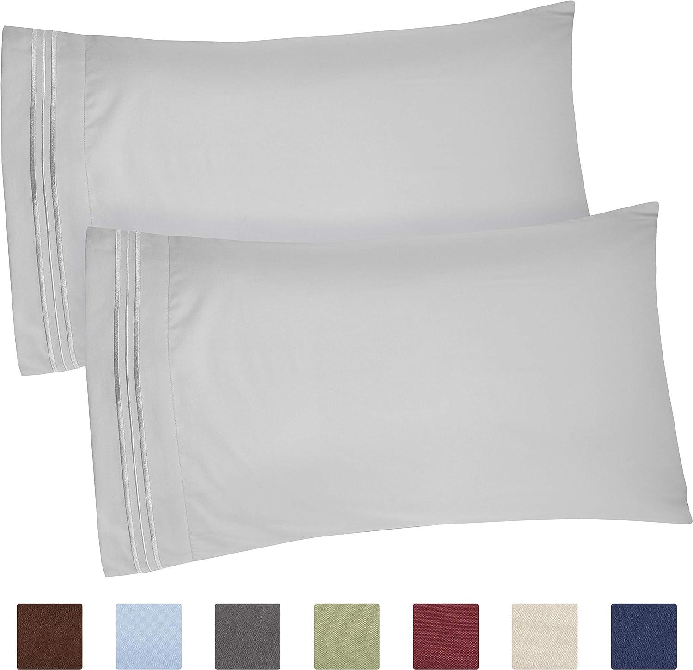 Amazon Com Queen Size Pillow Cases Set Of 2 Soft Premium