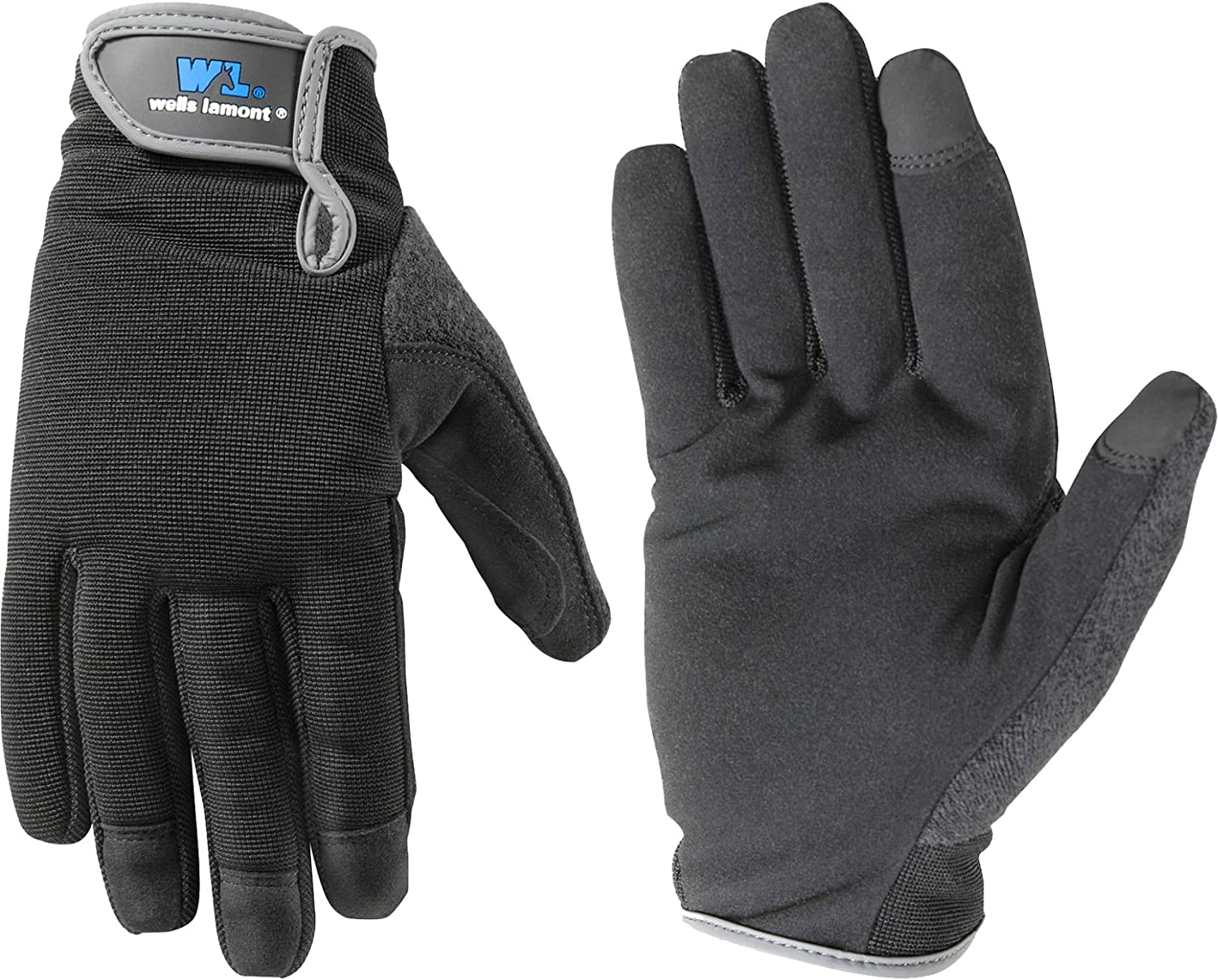 Wells Lamont Synthetic Leather Work Gloves, High Dexterity, Extra Large (7700XL) , Black