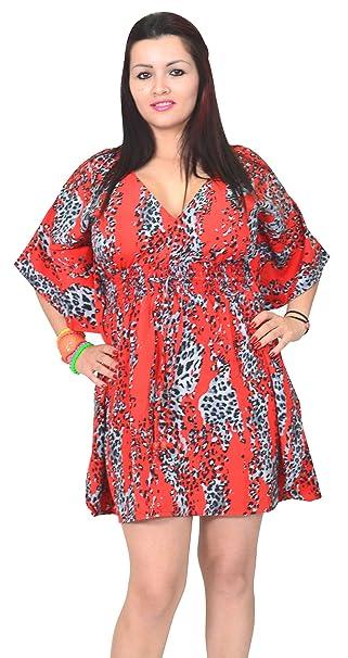 SUNROSE - Camisola - Animal Print - para Mujer Rojo Rosso XX-Large