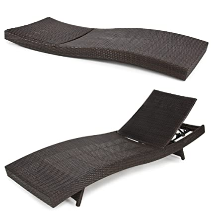 Best Choice Products Adjustable Modern Wicker Chaise Lounge Chair For Pool,  Patio, Outdoor W