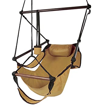 amazon     best choice products hammock hanging chair air deluxe outdoor chair solid wood 250lb tan   garden  u0026 outdoor amazon     best choice products hammock hanging chair air deluxe      rh   amazon