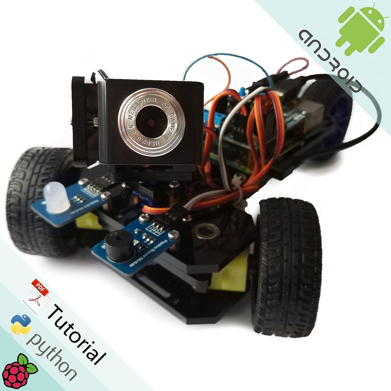Freenove Three-Wheeled Smart Car Kit for Raspberry Pi | Model 3B+ 3B 2B 1B+  | Detailed Tutorial | Android APP | Robot Camera Video Wi-Fi Wireless