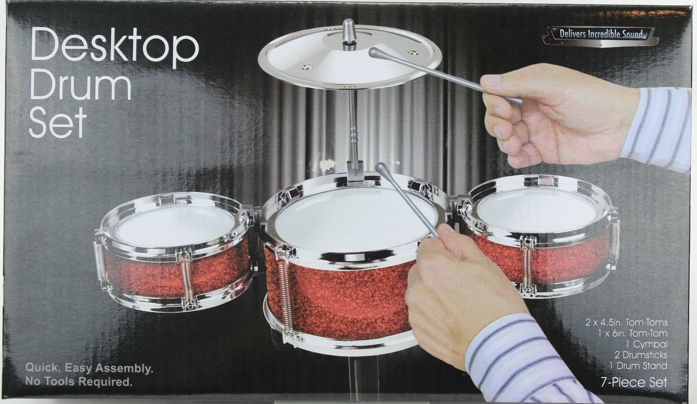 Amazon.com: Desktop Drum Set - Red: Toys & Games
