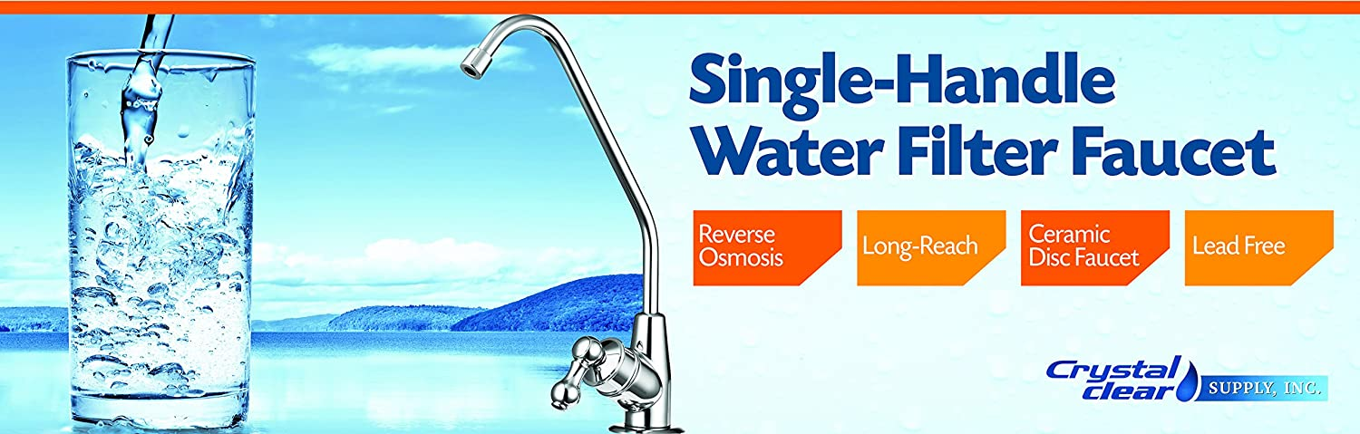 Crystal Clear Supply Water Filter Reverse Osmosis Faucet Brushed Nickel BN-10