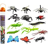Safari Ltd Insects TOOB – Comes With 14 Toy Figurines – Including Caterpillar, Dragonfly, Centipede, Grasshopper, Ladybug, Spider, Butterflies, Bee, Scorpion, Praying Mantis, And More – Ages 3 And Up