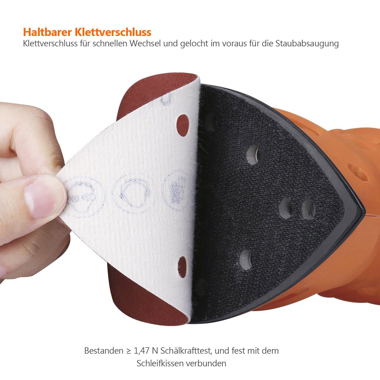 PSM 160 A Tacklife ASD02C 150 * 150 * 105mm je x10 f/ür Multischleifer Bosch PSM 80 A Schleifpapiere 40//80//120//180//240 K/örnung PSM 200 AES Schleifbl/ätter 60 St PSM 100 A