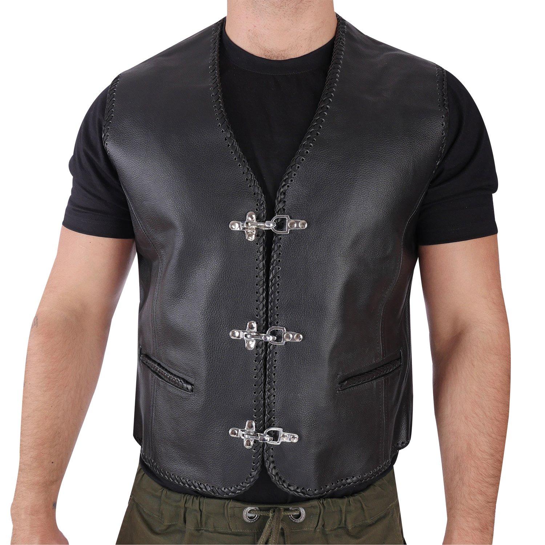 AnyuA Herren Steppweste Weste mit Rei/ßverschluss Taschen Futter mit Kletttasche