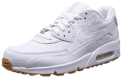 san francisco 1987c 8547c Nike Herren Air Max 90 Leather Pa Sneakers, Weiß (111 White), 47