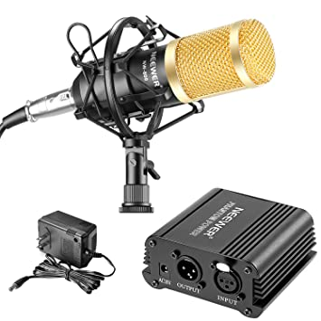 Amazon.com: Neewer NW-800 Micrófono y Phantom Power kit: (1 ...