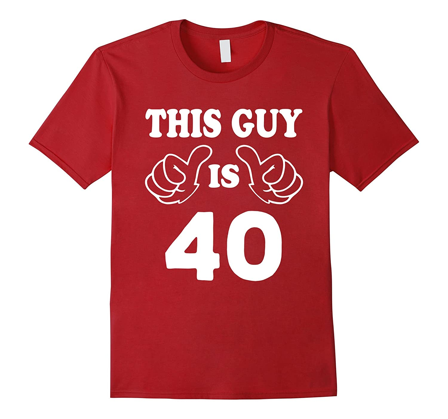 This Guy Is Forty 40 Years Old 40th Birthday Gift Idea Vaci