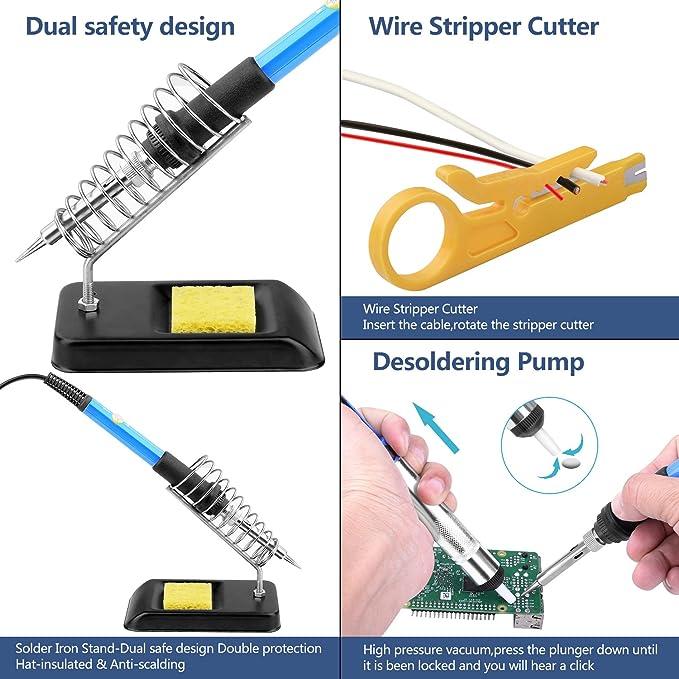 Kit de Soldador Estaño + Multímetro Digital Electrónico: Amazon.es: Bricolaje y herramientas