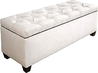 product image for MJL Furniture Designs Loft Upholstered Storage Bench, Magnolia/Charcoal