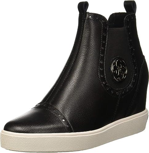 Guess Damen Freddie Chelsea Boots, schwarz