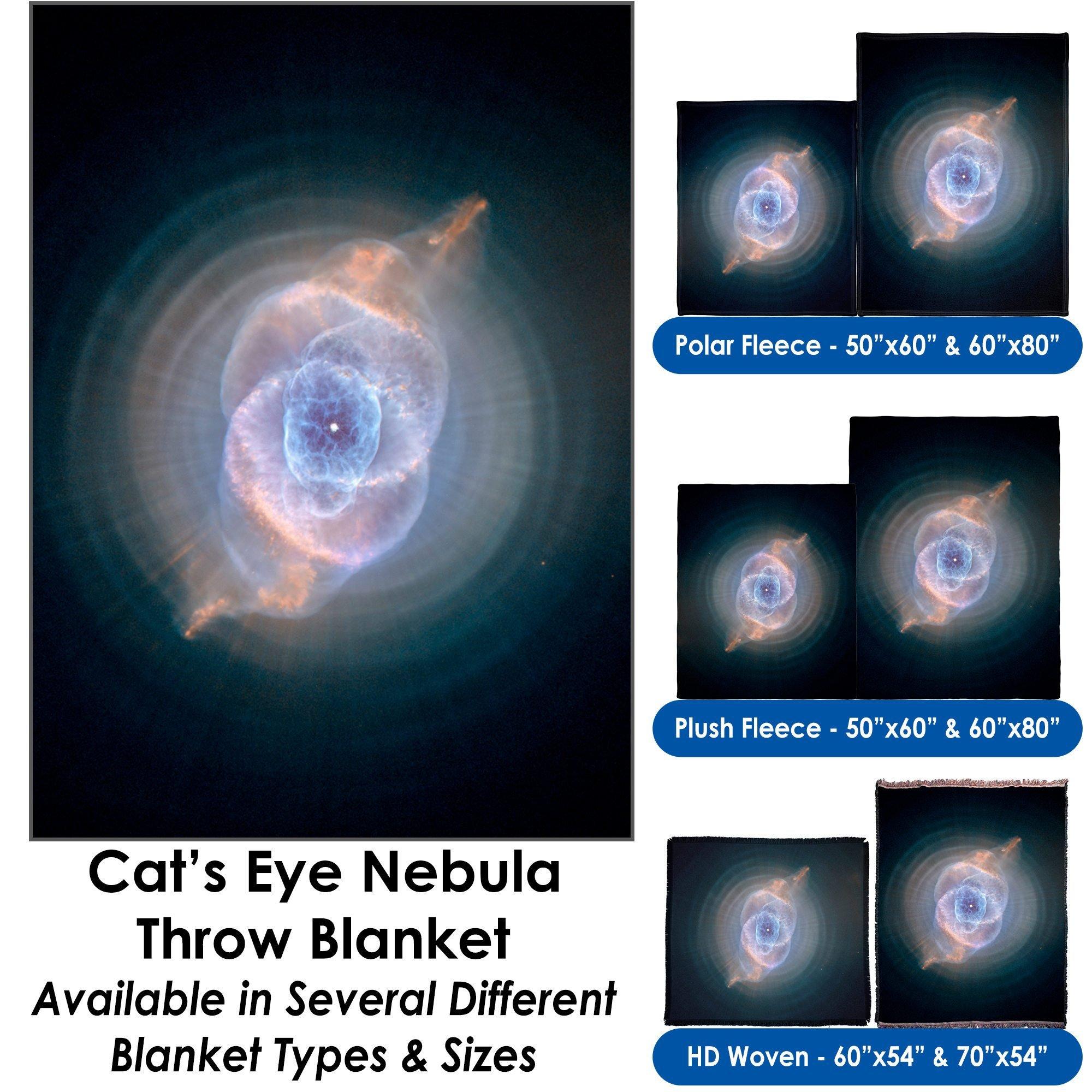 Cats Eye Nebula - Throw Blanket / Tapestry Wall Hanging