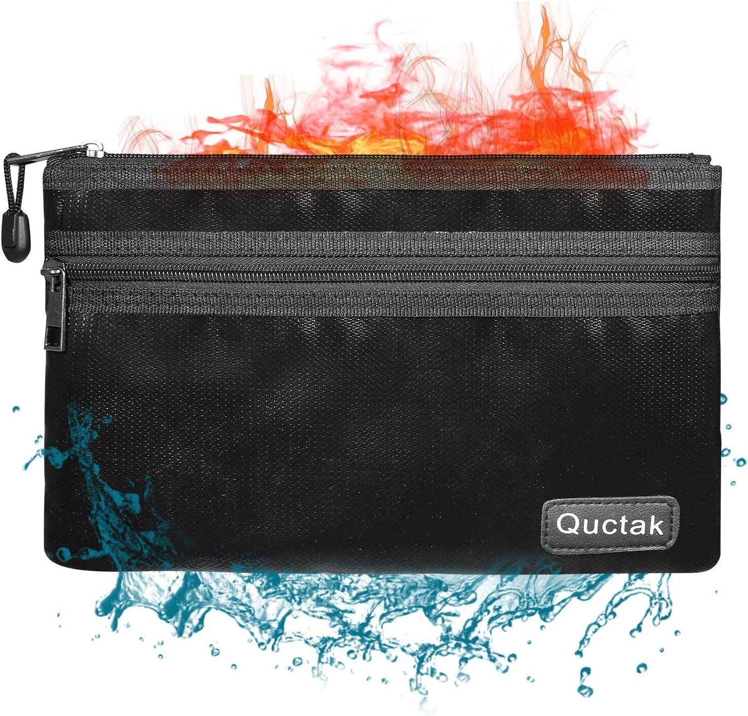 Quctak Fireproof Safe Money Bag