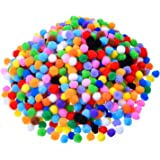 Outus Assorted Colors Pompoms for Craft Making and Hobby Supplies (0.5 Inch, 1000 Pieces)