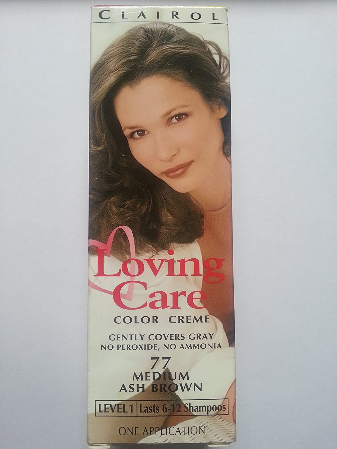 Clairol Natural Instincts Loving Care Hair Color 77 Medium Ash Brown 1 Box