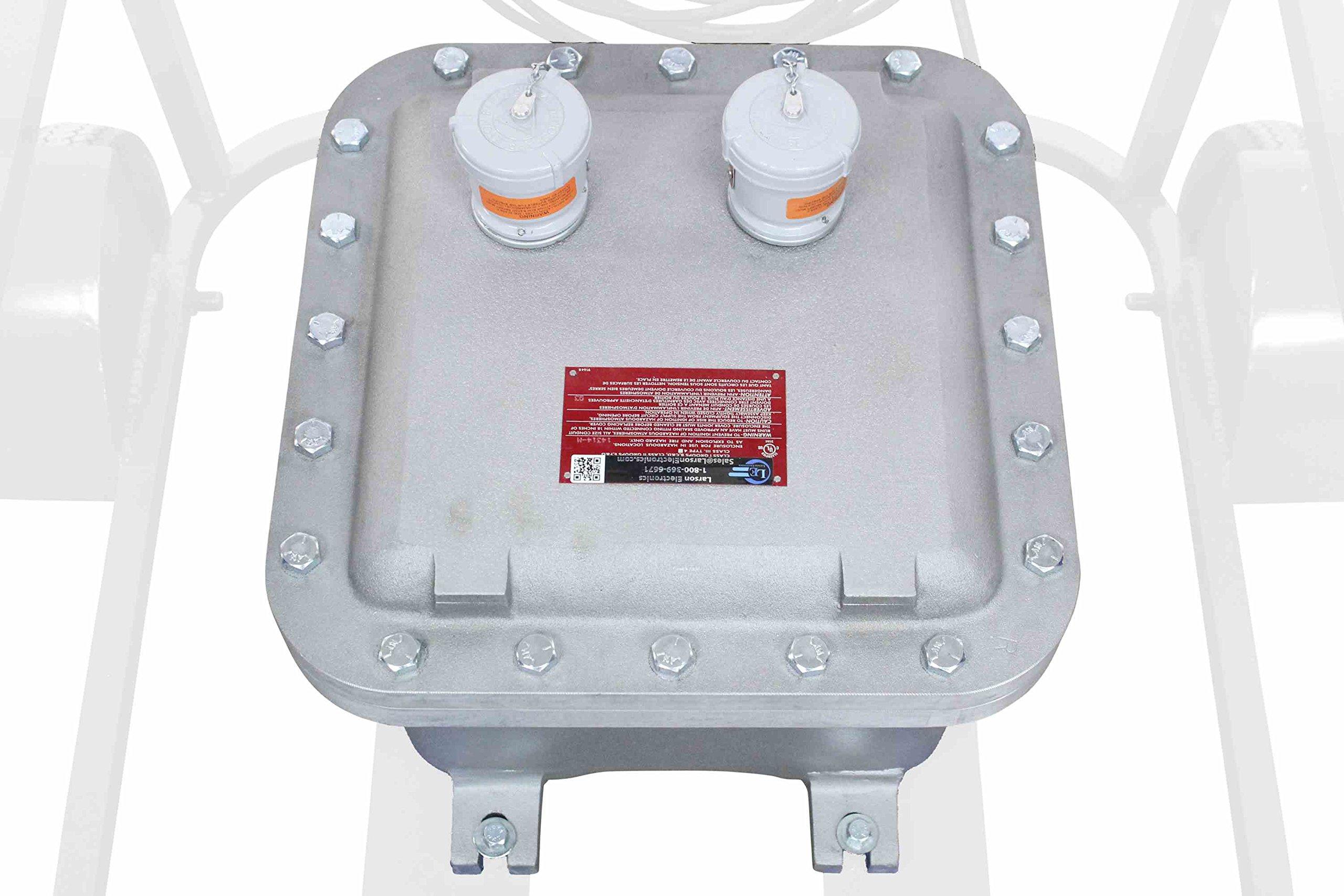 Larson Electronics 0321OXBN74G Explosion Proof LED Light - 70W LED - Quadpod Mount - 100' Soow Cord - Hazlo Plug (24Vdc)